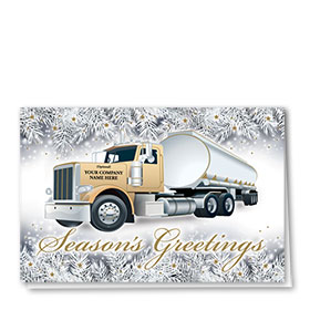 Trucking Christmas Cards - Frosted Tanker