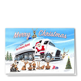 Trucking Christmas Cards - Santa's Tanker