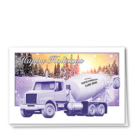 Construction Christmas Cards - Sunrise Concrete