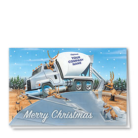 Construction Christmas Cards - Reindeer Concrete