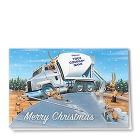 Construction Christmas Cards - Reindeer Concrete