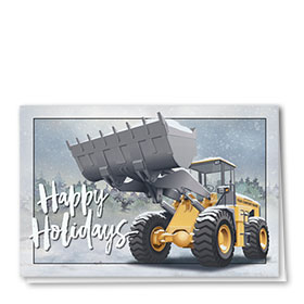 Construction Christmas Cards - Scooping Snow