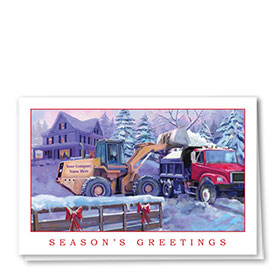 Construction Christmas Cards - Painted Duo