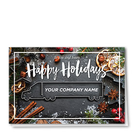 Trucking Christmas Cards - Cookie Cutter