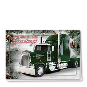 Trucking Christmas Cards - Classic Christmas Truck