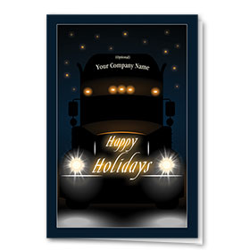 Trucking Christmas Cards - Night Haul