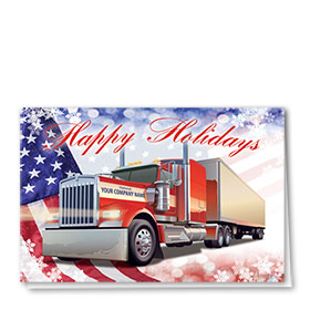 Trucking Christmas Cards - All American