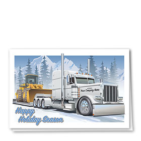 Trucking Heavy Haul Holiday Cards