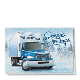 Delivery Truck Christmas Cards