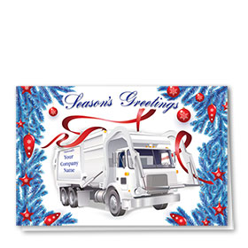 Trucking Christmas Cards - Tree Trimming