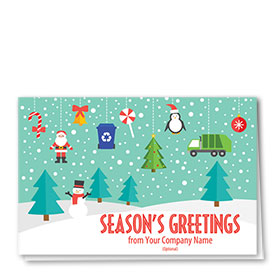 Trucking Christmas Cards - Refuse Adornments