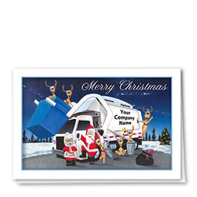 Trucking Christmas Cards - Santa's Family