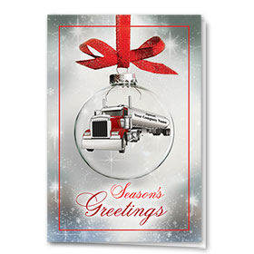 Trucking Christmas Cards - Tanker Greetings