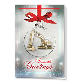 Construction Christmas Cards - Glass Bulb