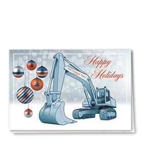 Construction Christmas Cards - Orange Bulb