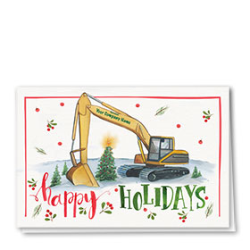 Construction Christmas Cards - Painted Holiday
