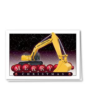 Construction Christmas Cards - Merry Bulbs