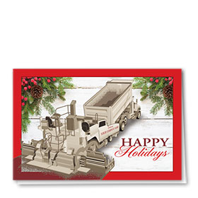 Construction Christmas Cards - White Wash Paver