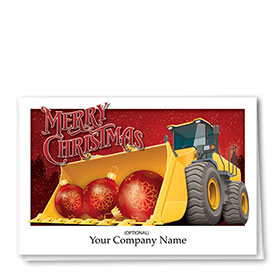 Construction Christmas Cards - Bulb Trio