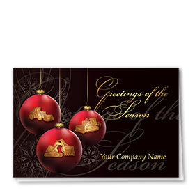 Construction Christmas Cards - Greeting Trio