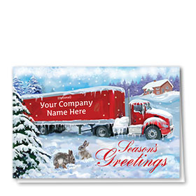 Trucking Christmas Cards - Cozy Ride