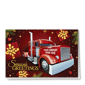 Trucking Christmas Cards  - Gold Bows