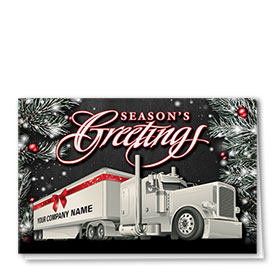 Over the Road Trucking Christmas Cards