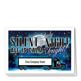 Trucking Christmas Cards  - Silent Night Truck