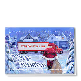Trucking Christmas Cards  - Santa Delivers
