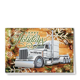Trucking Christmas Cards - Rustic Holiday