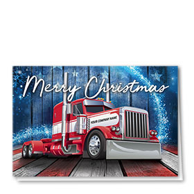 Trucking Christmas Cards - Stars and Stripes