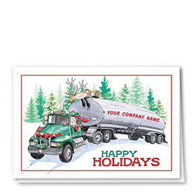 Trucking Christmas Cards  - Reindeer Ride