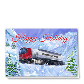Trucking Christmas Cards  - Mountain Drive