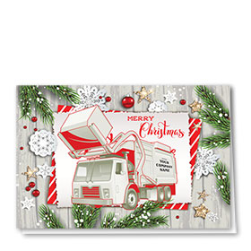 Trucking Christmas Cards - Festive Refuse