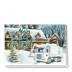 Trucking Christmas Cards - Merry Refuse