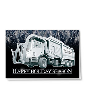 Trucking Christmas Cards - Silver Pine Refuse