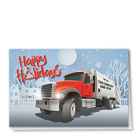 Trucking Christmas Cards - Holiday Neighborhood