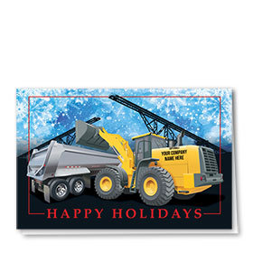 Construction Christmas Cards - Holiday Team