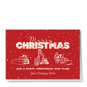 Construction Christmas Cards - Vintage Trio