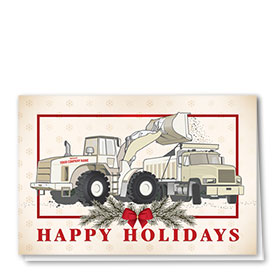 Construction Christmas Cards - Old Fashioned Pair