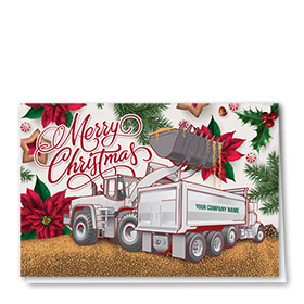 Construction Christmas Cards - Cheery Duo