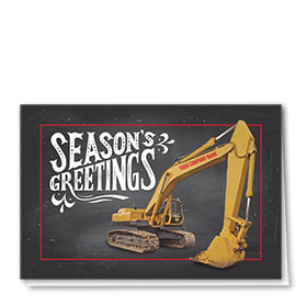 Construction Christmas Cards - Greetings Excavator