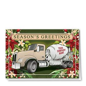 Construction Christmas Cards - Floral Concrete
