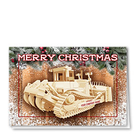 Construction Christmas Cards  - Christmas Dozer
