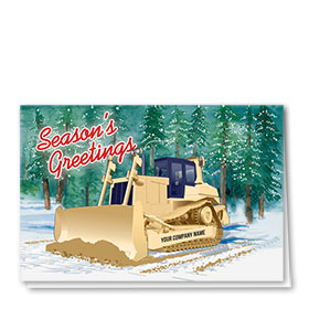 Construction Christmas Cards  - Woods Dozer