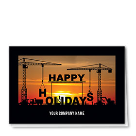 Construction Christmas Cards  - Constructing Holidays