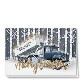 Construction Christmas Cards - Birch Roll Off