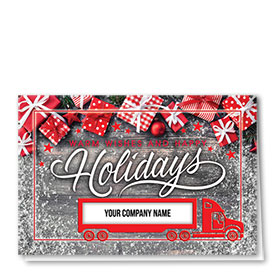 Trucking Christmas Cards - Wrapped Wishes