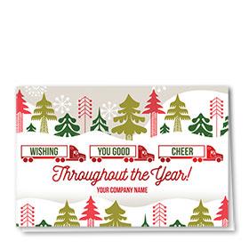 Trucking Christmas Cards - Good Cheer Trio