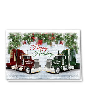 Trucking Christmas Cards - Holiday Pair
